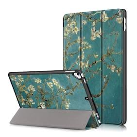 ProElite Smart Flip Case Cover for iPad 8th Gen/ 7th Gen10.2 / Air 3 10.5;Flowers Multi