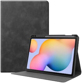 ProElite Smart Flip case Cover for Samsung Galaxy Tab S6 Lite 10.4 Inch SM-P610/P615 with S Pen Holder [Black]