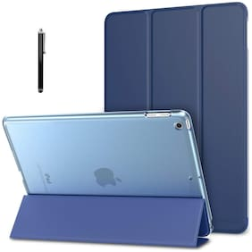 "ProElite Smart Flip Case Cover for Apple iPad 10.2"" 7th Generation with Stylus Pen, Translucent & Hard Back, Dark Blue"