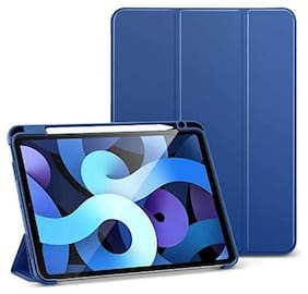 ProElite Faux Leather Flip Cover For Apple iPad Air 4 Gen 10.9 ( Blue )