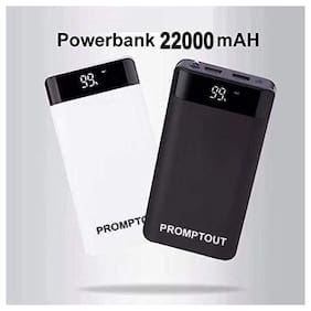 Promptout New 22000mAH Digital Display Power Bank Dual Interface External Charger Battery Universal Fast Battery Power Bank (Multicolor