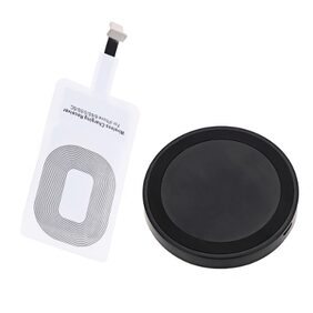 Qi Wireless Charger Phone Mount Pad + Charging Receiver for iPhone