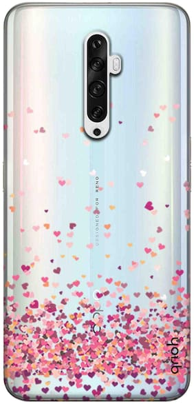 Qrioh Printed Designer Back Case Cover Compatible with Oppo Reno2 Z- Cluster of hearts - 522M-G2UVTP14