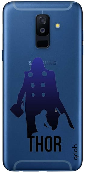 Qrioh Printed Designer Case Cover for Samsung A6 Plus - Superhero Hammer