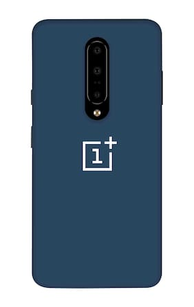 Qrioh Printed Designer Matte Hard Case Back Cover for OnePlus 7 Pro - Blue