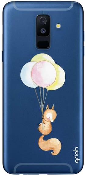 Qrioh Printed Designer Case Cover for Samsung A6 Plus - Hanging squirrel