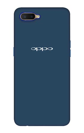Qrioh Printed Designer Matte Hard Case Back Cover for Oppo K1 - Blue