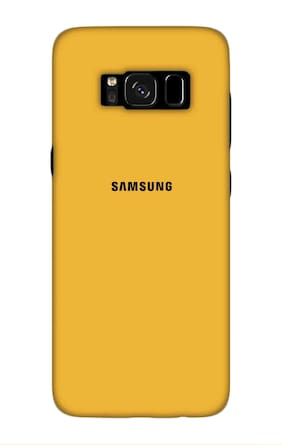 Qrioh Printed Designer Matte Hard Case Back Cover for Samsung Galaxy S8 Plus - Yellow