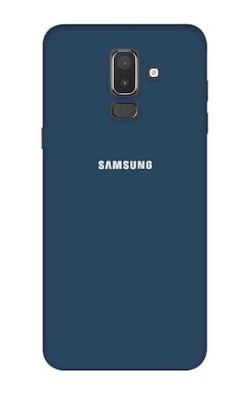 Qrioh Printed Designer Matte Hard Case Back Cover for Samsung Galaxy J8 - Blue