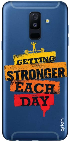Qrioh Printed Designer Case Cover for Samsung A6 Plus - Getting Stronger