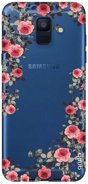 Qrioh Printed Designer Samsung A6 Back Cover Case-Floral French Case
