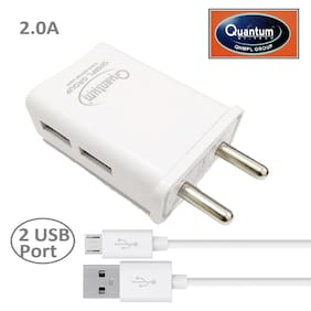 CAPNICKS 2.4 A Fast Charging Wall Charger - 2 USB Ports