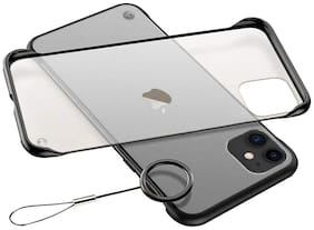Apple iPhone 12 Plastic Back Cover By RAGRO ( Black )