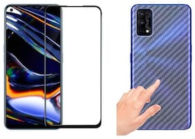 Ragro Realme 7 Pro temperd glass and skin combo for front and back side for Realme 7 Pro