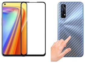 Ragro Realme 7 temperd glass and skin combo for front and back side for Realme 7