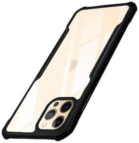 Ragro Shock proof Anti Slip Transparent Soft TPU Back Cover Case For Iphone 12 Pro Black