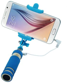 Captcha Mini Wire Controlled Rainbow Selfie Stick For All SmartPhone
