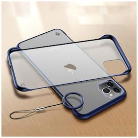 RAKULO Polycarbonate Back Cover For Apple iPhone 12 Pro Max ( Blue )
