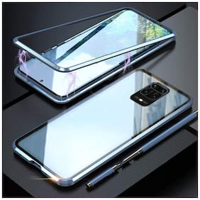 Redmi Note 9 Pro Max Metal Back Cover By RAKULO ( Blue )