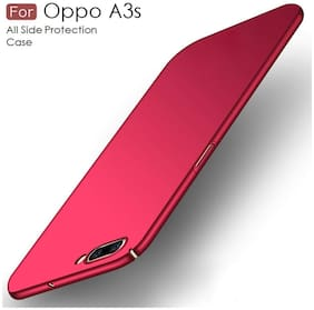 RAKULO Polycarbonate Back Cover For OPPO A3s ( Red )