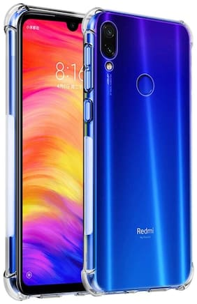 RAKULO Silicone Back Cover For Redmi Note 7 Pro ( Transparent )
