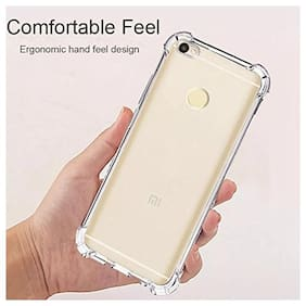 RAKULO Silicone Back Cover For Redmi Y1 ( Transparent )