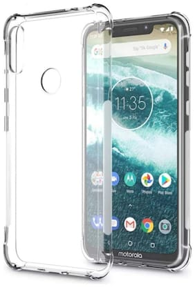 Rakulo Mobile Back Cover For Moto One Power (Transparent)