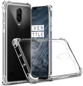 RAKULO Silicone Back Cover For OnePlus 6T ( Transparent )