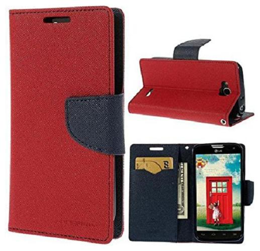 Rakulo Samsung Galaxy J7  2016  Cover   Scyther Mercury Wallet Card Dairy Slot Style Flip Cover Compatible for Samsung Galaxy J7  2016   Red  by Sagar