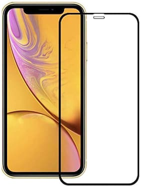 Ravbelli Edge to Edge Full Screen Coverage Tempered Glass/Screen Guard for Apple iPhone 11/XR 6.1 (Black) with Easy Installation Kit (Pack of 1)