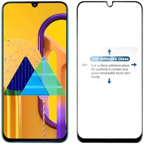 Ravbelli Edge to Edge Tempered Glass Screen Protector for Samsung Galaxy M31/M21/M30S/M30/A20/A30  (Pack of 1)
