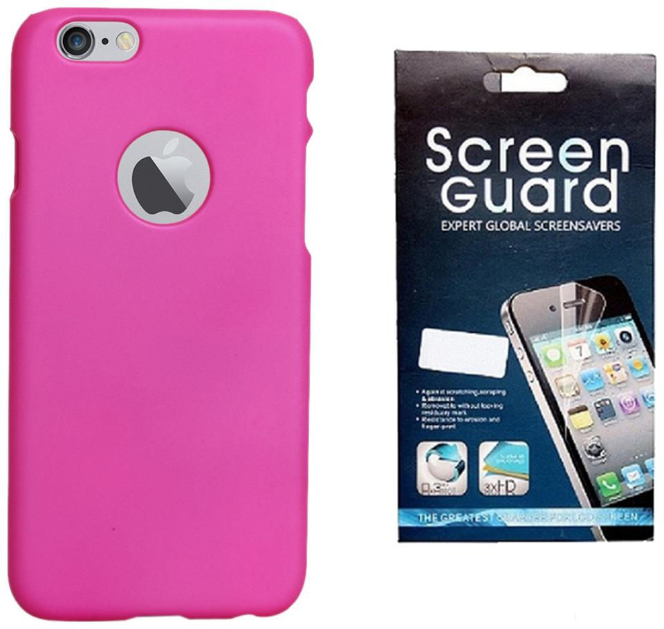 Rdcase Back Cover For Apple iPhone 6S/Apple iPhone 6  Dark Pink  With Screen Guard
