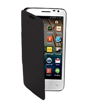 RDcase Flip Cover For Micromax Canvas Juice A77 (Black)