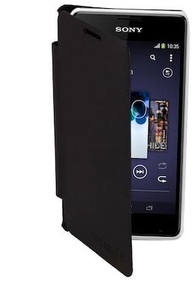 RDcase Flip Cover For Sony Xperia E1 (Black)