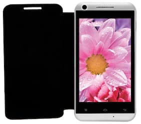 RDcase Flip Cover For Lava Iris 404e (Black)