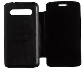 RDcase Flip Cover For Micromax Bolt A26 (Black)