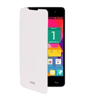 RDcase Flip Cover For Micromax Canvas XL2 A109 (White)