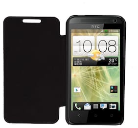 RDcase Flip Cover For HTC Desire 501 (Black)
