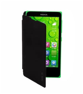 RDcase Flip Cover For Nokia XL (Black)