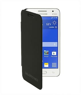 RDcase Flip Cover For Samsung Galaxy Core2 G355H (Black)