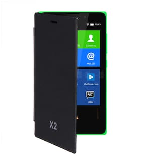 RDcase Flip Cover For Nokia X2 (Black)