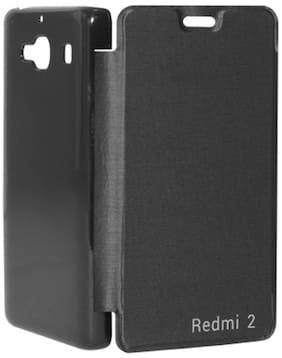 RDcase Flip Cover For Xiaomi Redmi 2 (2nd Gen) (Black)
