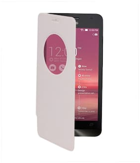 RDcase Flip Cover For Asus Zenfone 5 (White)