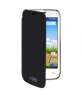 RDcase Flip Cover For Micromax Bolt A065 (Black)