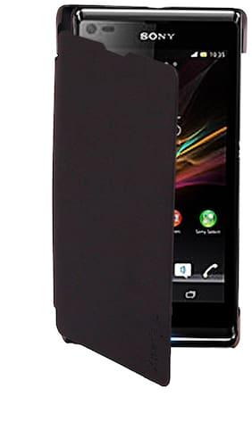RDcase Flip Cover For Sony Xperia L (Black)