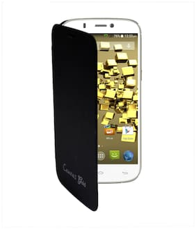 RDcase Flip Cover For Micromax Canvas Gold A300 (Black)