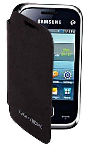 RDcase Flip Cover For Samsung Galaxy Rex 60 c3312 (Black)