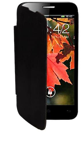 RDcase Flip Cover For Xolo A800 (Black)
