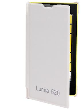 RDcase Flip Cover For Nokia Lumia 520 (White)