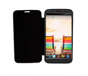 RDcase Flip Cover For Micromax Canvas A119 (Black)